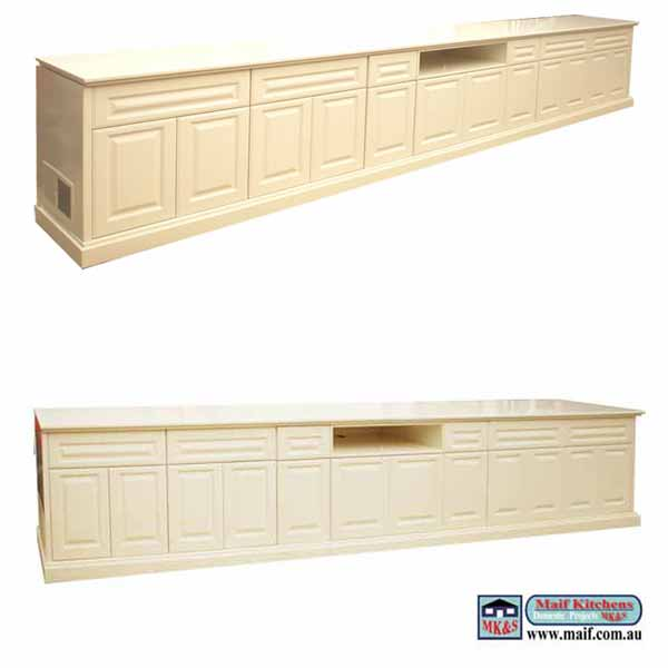 Long entertainment unit. Polyrethane
