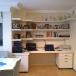 Small office with bookshelves