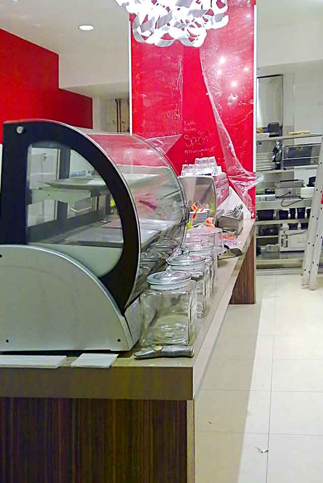 Custon shop counter