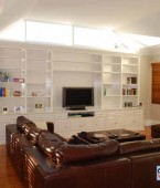 Large entertainment unit. Custom made. White