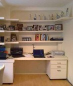 Home office, Bookshelves