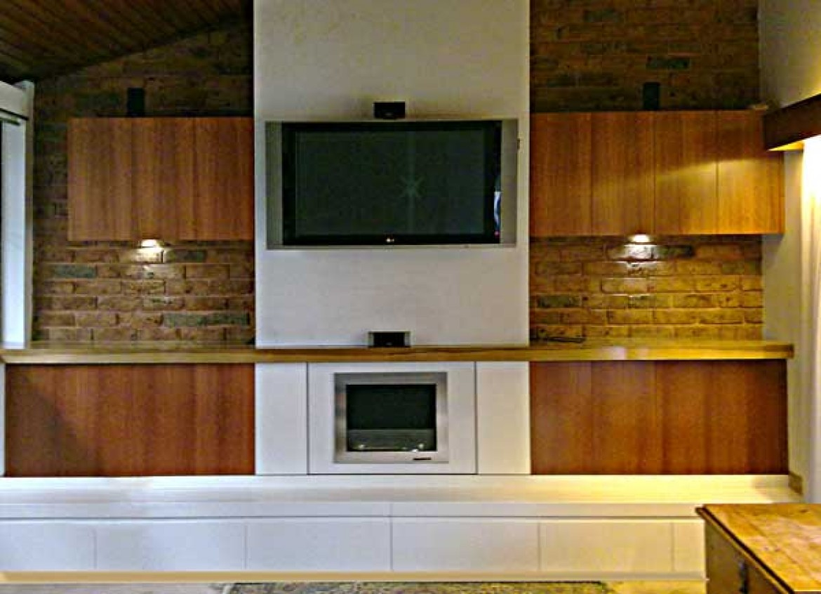 Fire place cabinets and joinery